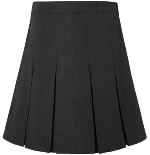 George Girls Grey Pleated School Skirt