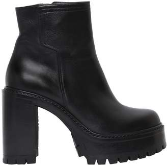 Strategia 90mm Platform Leather Ankle Boots