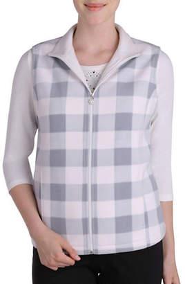 Allison Daley Plus Sleeveless Check Vest