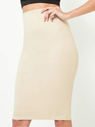 Shein Slit Back Solid Pencil Skirt