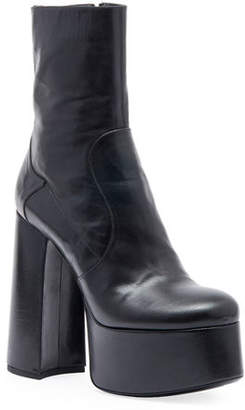 Saint Laurent Billy Kangaroo Leather Platform Boot