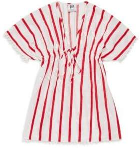 Milly Minis Little Girl's& Girl's Stripe Cotton Cover-Up Dress