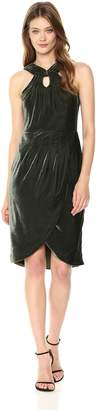 Cupcakes And Cashmere Women's Wales Velvet Midi Dress