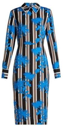 Diane von Furstenberg Shelford Striped Dress - Womens - Black Blue
