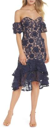 Jarlo Merrilee Off the Shoulder 3D Lace Dress
