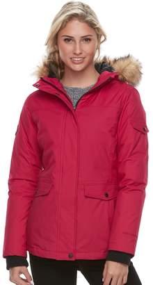 Free Country Women's Down Faux-Fur Trim Jacket