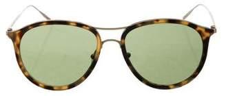Tomas Maier Tortoiseshell Round Sunglasses