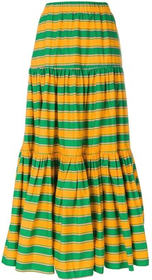 La DoubleJ long striped skirt