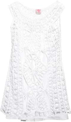 Anna Kosturova Scoop-neck crochet dress