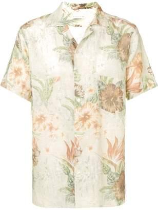Etro hibiscus print shirt
