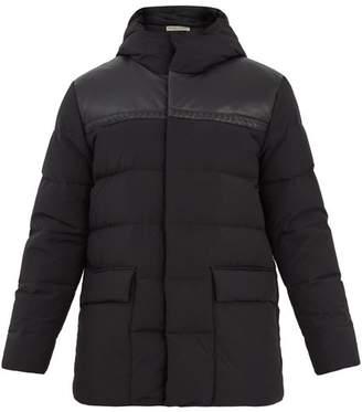 Bottega Veneta Hooded intrecciato leather-trim quilted down coat