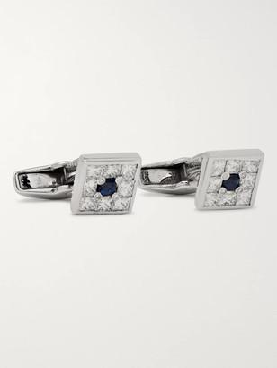 Deakin & Francis 18-Karat White Gold, Diamond And Sapphire Cufflinks