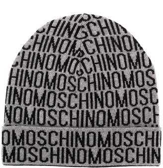 Moschino all over logo beanie