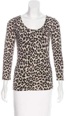 Max Mara Weekend Leopard Print Long Sleeve Top