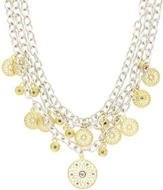 Sparkling Sage Plated Crystal Bib Necklace