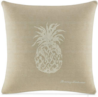 """Tommy Bahama Home Canvas Stripe 20"""" Square Pineapple Decorative Pillow Bedding"""