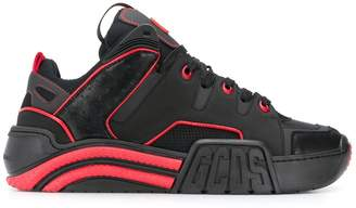GCDS contrast piped sneakers
