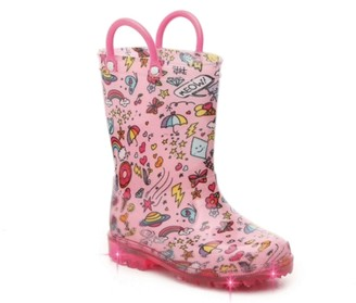 Olive & Edie Doodlie Light-Up Rain Boot - Kids'