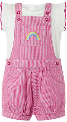 Monsoon Baby Tillie Ticking Stripe Dungaree Set