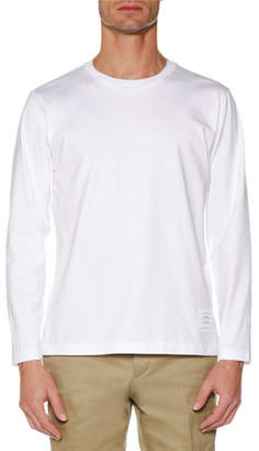 Thom Browne Men's Relaxed-Fit Long-Sleeve Jersey T-Shirt
