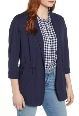 Caslon Cinch Waist Knit Jacket (Regular & Petite)
