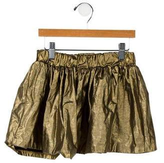Finger In The Nose Girls' Metallic-Accented Skirt