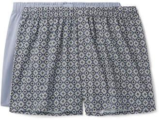 Hanro Two-Pack Cotton-Poplin Boxer Shorts