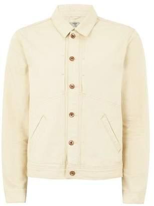 Topman Mens Cream Off White Denim Jacket