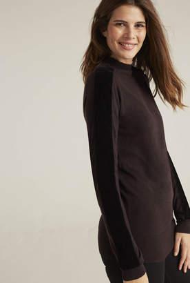 Long Tall Sally Velvet Sleeve Sweater