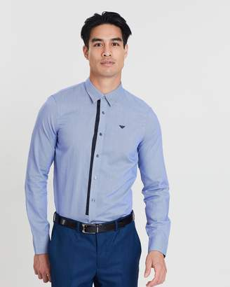 Emporio Armani Patterned & Solid Long Sleeve Shirt