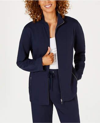 Karen Scott French Terry Zip-Front Jacket, Created for Macy's