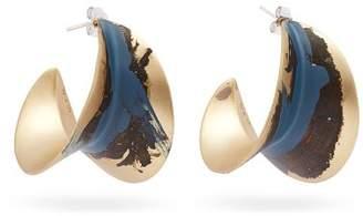 Albus lumen Albus Lumen - X Ryan Storer Painted Hoop Earrings - Womens - Blue