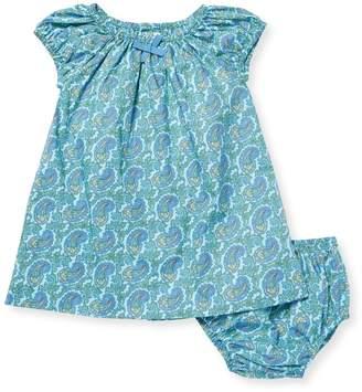 Elephantito Peasant Cotton Dress & Bloomers Set