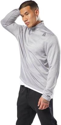 Reebok Men's Double-Knit Quarter-Zip Top