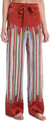 Meng Striped Silk Pajama Trousers