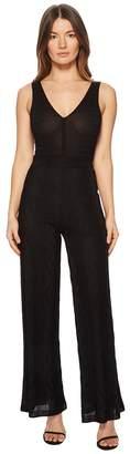 M Missoni Solid Knit V-Neck Jumpsuit Women's Jumpsuit & Rompers One Piece