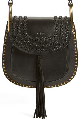 Chloe 'Small Hudson' Studded Calfskin Leather Crossbody Bag - Black $2,150 thestylecure.com