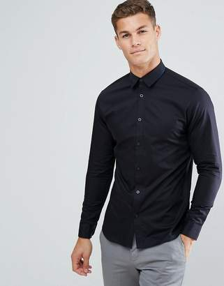 Selected Slim Shirt With Tipped Collar