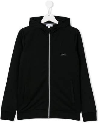 Boss Kids front zip hoodie