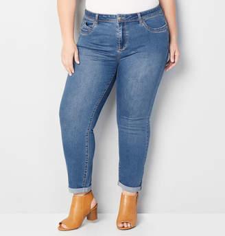 Avenue Mini Roll Wanna Betta Butt Skinny Jean in Medium Wash