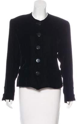 Saint Laurent Vintage Velvet Structured Jacket