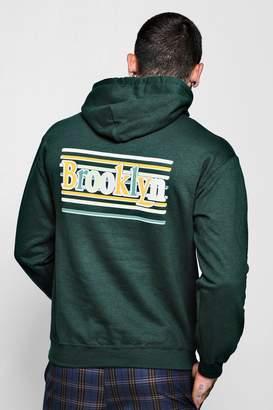 boohoo Brooklyn Front And Back Print Hoodie