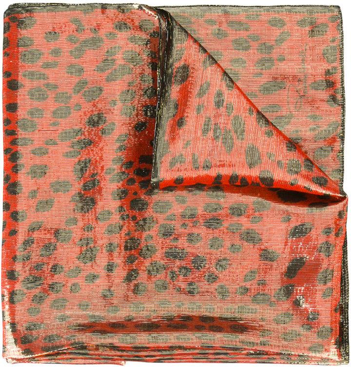 Roberto CavalliRoberto Cavalli animal print scarf
