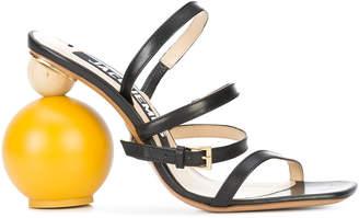 wooden heel sandals