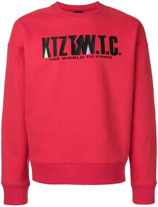 Kokon To Zai mountain letter embroidered sweatshirt