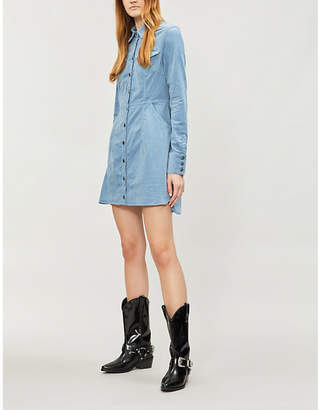 Free People Dynamite fitted corduroy mini dress