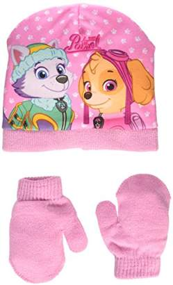 Nickelodeon Baby Girls' Paw Patrol Skye Steps Hat and Gloves,1 (Manufacturer Size: 48)