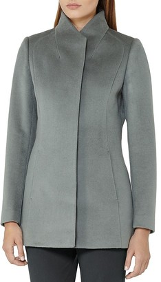 REISS Napoli Wrap Collar Wool Coat $500 thestylecure.com