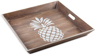 Home Essentials Pineapple-Print Wooden Tray