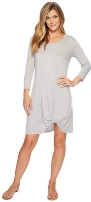 Mod-o-doc Soft Crinkle Jersey 3/4 Sleeve Twist Hem Dress Women's Dress